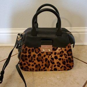 Kate spade leopard satchel purse